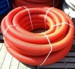 Труба защитная двустенная электротехническая d63мм красная